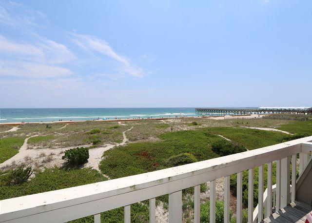 Oceanfront Deck - Wright By The Sea - Relax and enjoy the beach at this comfy oceanfront condo - Wrightsville Beach - rentals