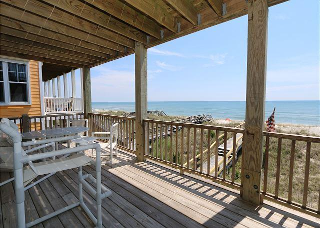 Oceanfront deck - Sea Cliff - Oceanfront condo in Carolina Beach with private beach access - Carolina Beach - rentals