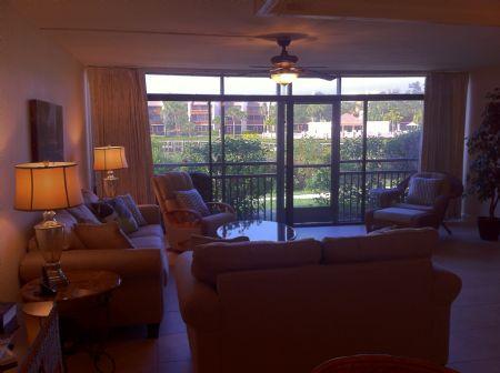 Full View of Living Area - Firethorn 610 - Siesta Key - rentals