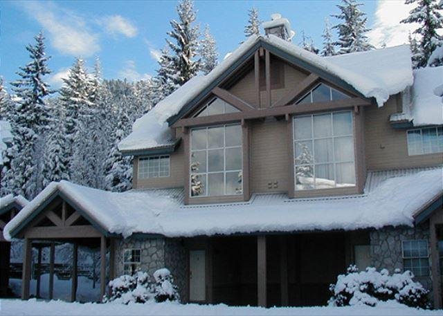 Exterior View of Property in Winter - Stoneridge #27   2 Bed Townhome, Very Close to Ski Access, Private Hot Tub - Whistler - rentals