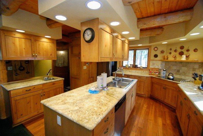 Deluxe kitchen with granite countertops and stainless steel appliances - Lenawee Log Home - Free Lift Tickets with the rental of this log home! - Keystone - rentals