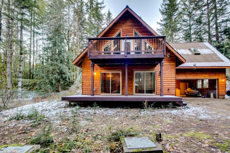 Lodge w/game room; decks; mountain views; fire pit - Image 1 - Brightwood - rentals