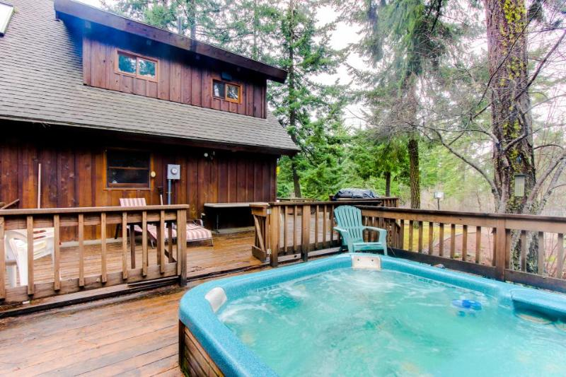 Secluded, waterfront home with a private hot tub & lodge-like interior - Dogs OK - Image 1 - Parkdale - rentals