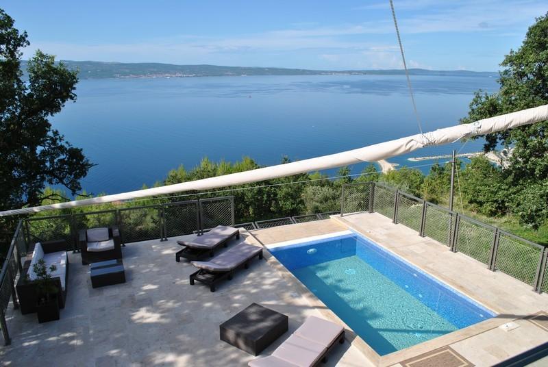 Luxury villa with pool near Omis - sea view - Beatiful villa for rent in Krilo Jesenice - Krilo Jesenice - rentals