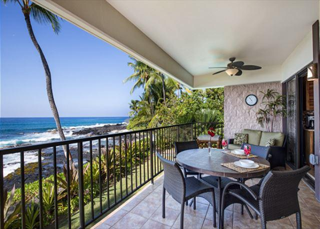 Beautiful Oceanfront Condo Steps from Beach - complete remodel 2014 - Image 1 - Kailua-Kona - rentals