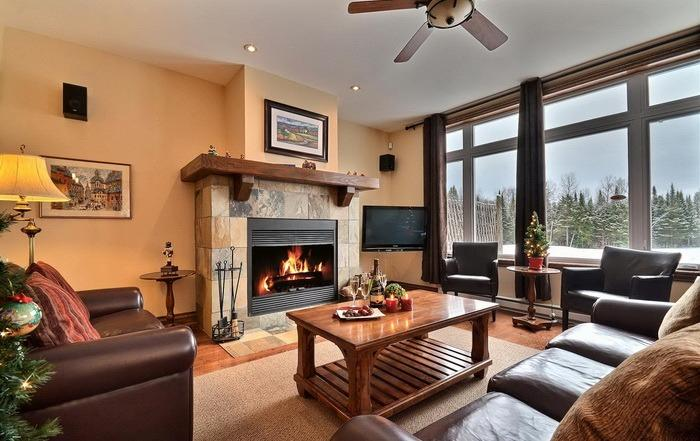Large screen satellite TV, DVD & sound system, fireplace - Rabaska - close to Tremblant resort - Mont Tremblant - rentals