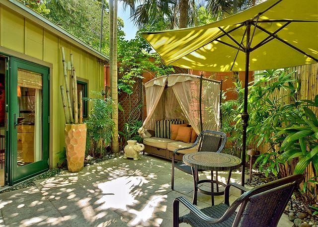 private patio - Bali Hideaway: A studio cottage that's perfect for two - Key West - rentals