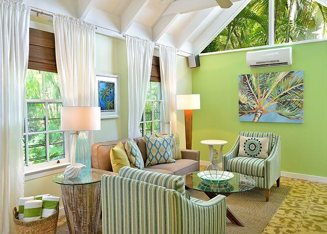 Living Room - Ann Street Cottage: A bright and airy home near Duval Street - Key West - rentals