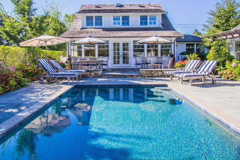 Pool, Patio, Entry to Living Room - CHAP2 - Ferry Ticket 8/19 Week, Edgartown Luxury Compound, Main and Guest - Edgartown - rentals