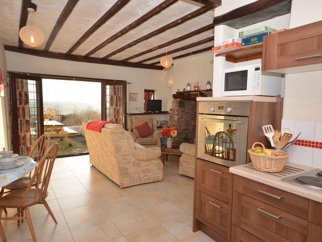 Open-plan lounge/kitchen/diner with woodburner and countryside views - WASTA - Devon - rentals