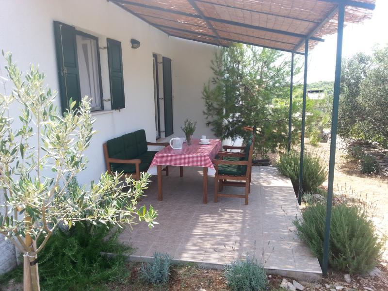 garden terrace - Villa Voga 2 - Maslinica - rentals