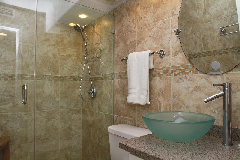 European Spa Bath with Full Walk in Shower - 314-A Private Beach, SPA Bath, Lush Pool, Lagoon, Boat Launch, Fishing, Dbl Oven - Gulf Shores - rentals