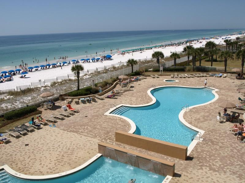 Pool - 406E Silver Beach Towers-l Beautiful 3/3 Beachfront - Destin - rentals