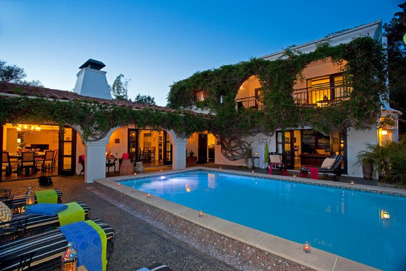 Kitchen, Dining Room, Pool Room all open to pool - Kashmir - Montecito - rentals
