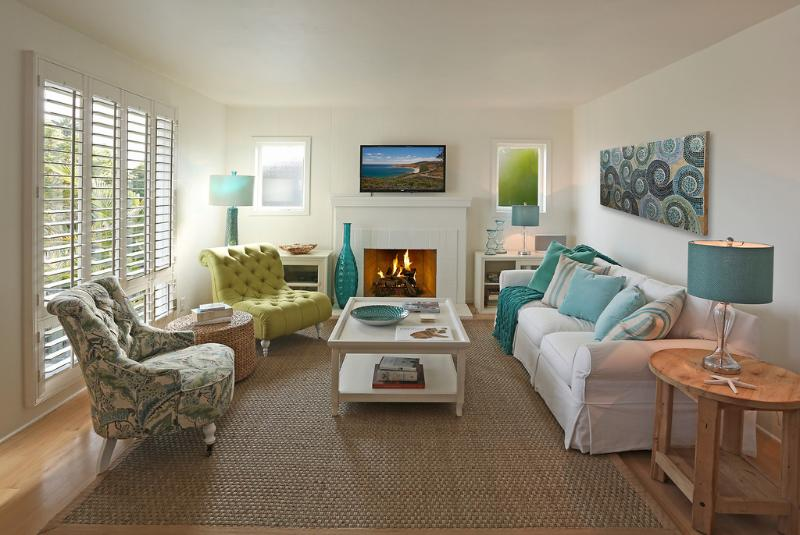 Cool colors of sand and surf - Sea Glass Cottage - Santa Barbara - rentals