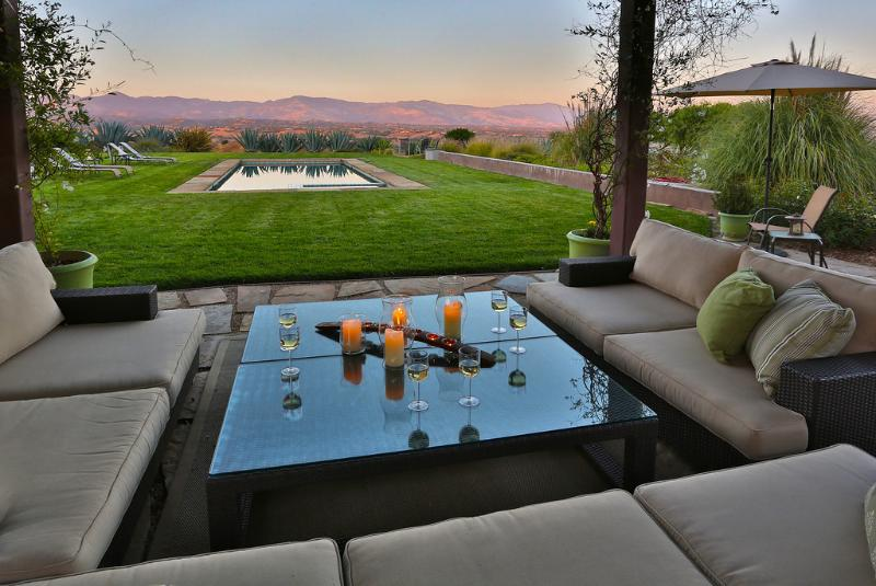 Views from the Outdoor Living Room - Triple M Ranch - Los Olivos - rentals