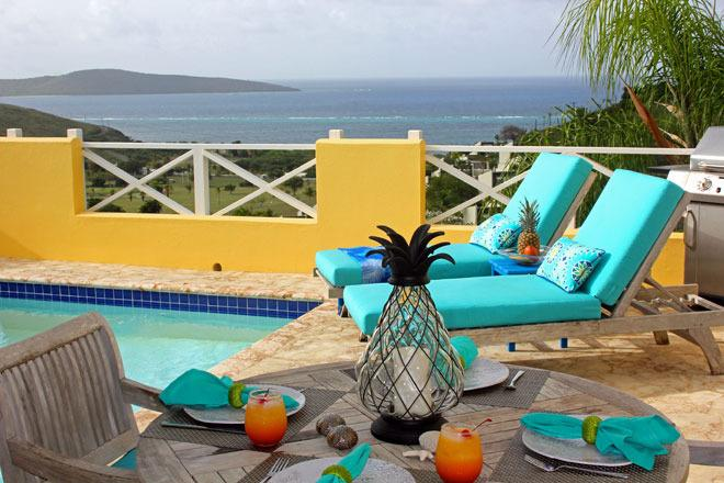 Romantic - Upscale - Private - Fantastic Northshore Buck Island water views - Abandon shoes for flip-flops at romantic Caribe - Teague Bay - rentals