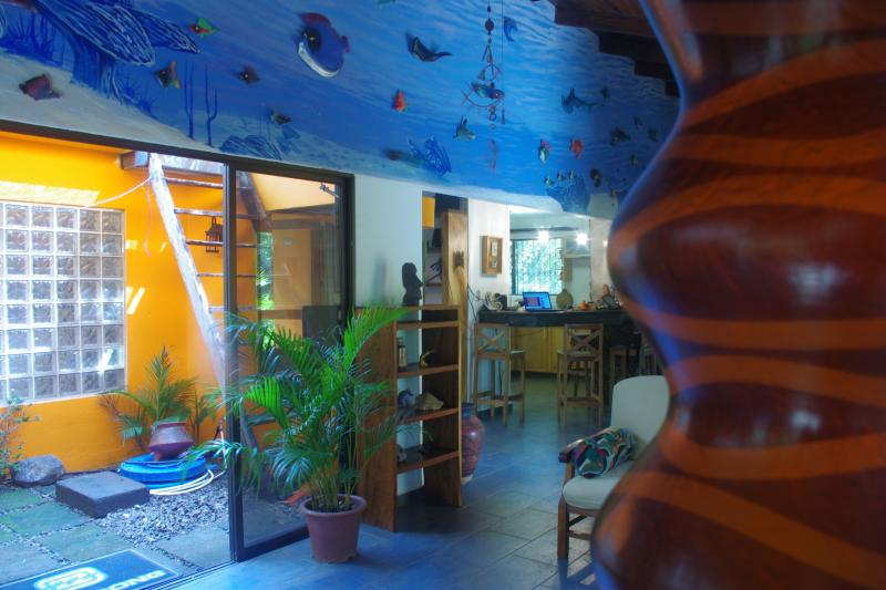 The centerpiece of our home is our 40' undersea mural consisting of handmade 3D sculptures! - Casa Kalana - just 250 yards to the Pacific Ocean! - Playa Negra - rentals