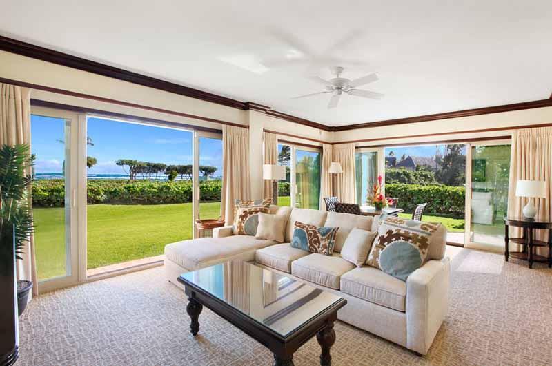 G101 Living Room with New Sofa and Chaise Lounge - Waipouli Beach Resort G101 - Kapaa - rentals