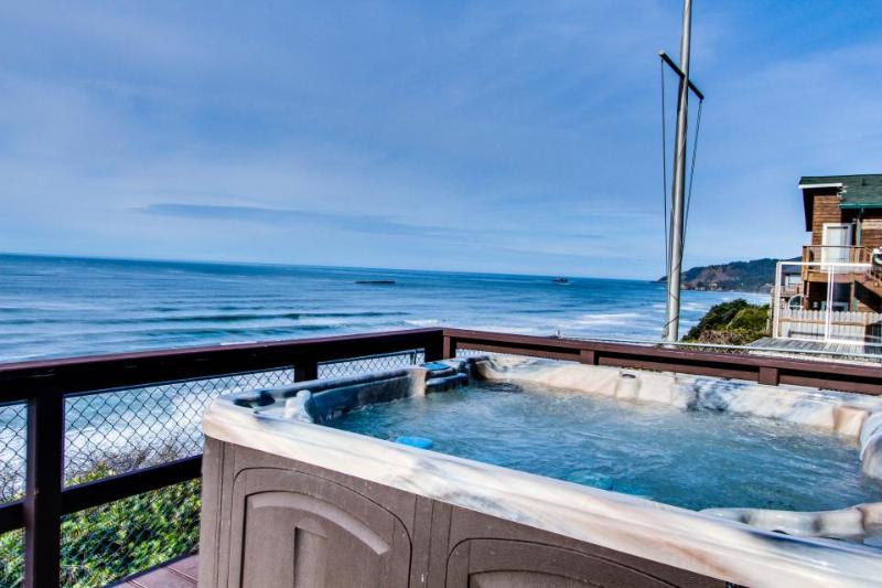 Dog-friendly beachfront home w/private hot tub for whale watching! Close to town - Image 1 - Newport - rentals