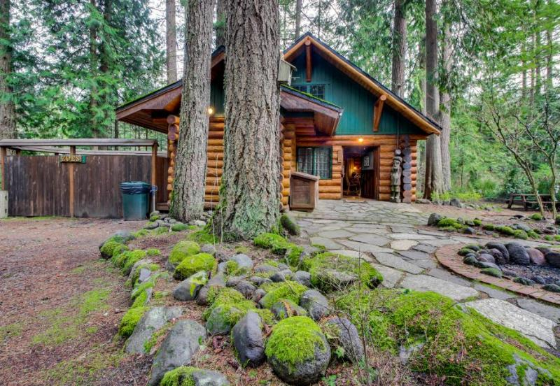 Discover peace and tranquility at this riverfront cabin among the trees. - Image 1 - Welches - rentals