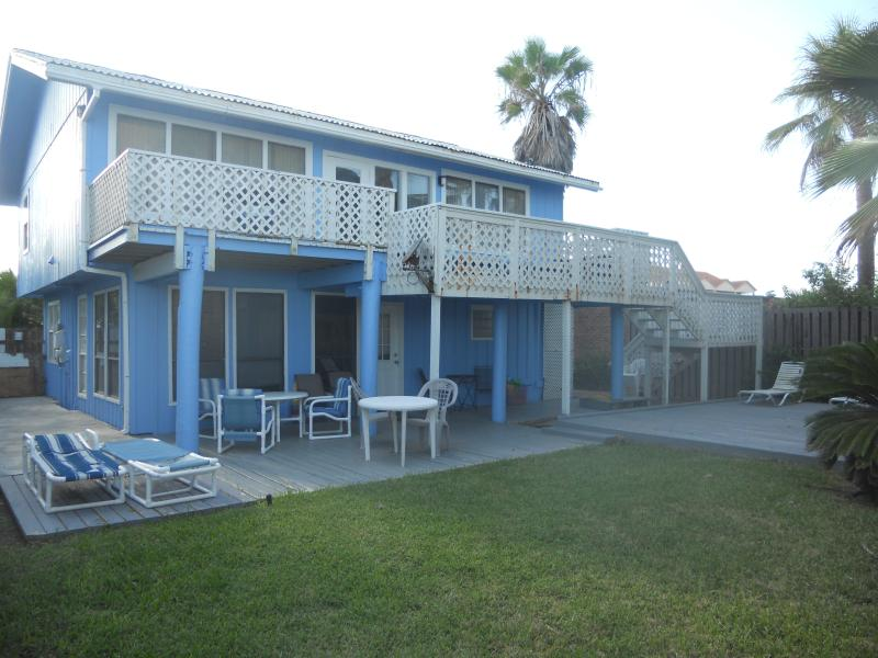 Back Side of the Bue Beach House - On the Beach Charming Secluded & Private 4 BR 3 BA - South Padre Island - rentals