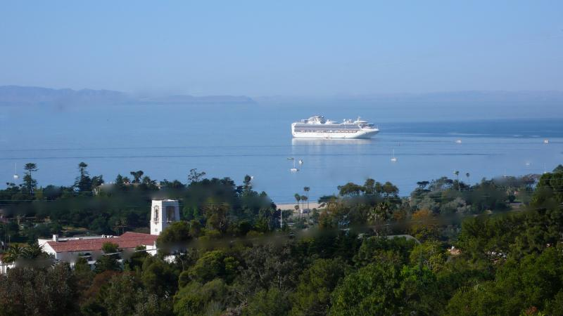 The view from the terrace - 5 br.  Montecito Estate. Beach/Island Views/Pool - Santa Barbara - rentals