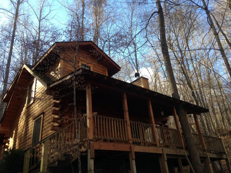 NESTLED IN THE WOODS - The Heart Center - Gorgeous Log Cabin In The Woods - Robbinsville - rentals