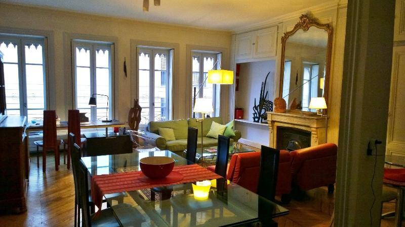Living room - Gite urbain Lyon centre presqu'île - Lyon - rentals