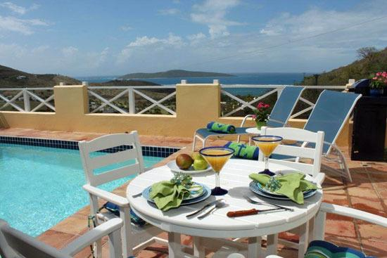 Sea View - Stunning Views & Villa Elegance - Heated Private Pool - All amenities - Sea View at Villa Madeleine - Teague Bay - rentals