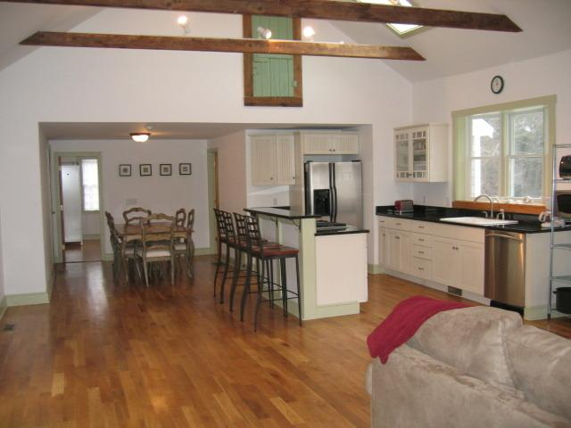 Open kitchen and family room. Dining area sits 6, with more chairs available. - Huge Red River Beach House - Harwich - rentals