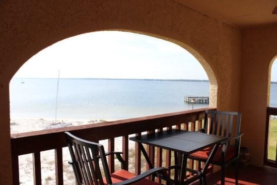 Sunset Harbor Balcony View - Sunset Harbor Palms 1 bedroom condo 2-310 - Navarre Beach - rentals