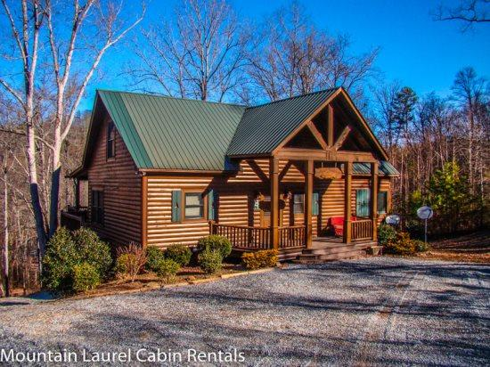 RUNABOUT TROUT LODGE-3BR/2.5BA CABIN ON THE TOCCOA RIVER,SLEEPS 12, EXCELLENT FISHING, WIFI, INDOOR/OUTDOOR WOOD BURNING FIREPLACES, HOT TUB, JETTED TUB, POOL TABLE, AIR HOCKEY, PAVILION WITH CHARCOAL GRILL AND PICNIC TABLE, PET FRIENDLY $195/NIGHT! - Image 1 - Blue Ridge - rentals