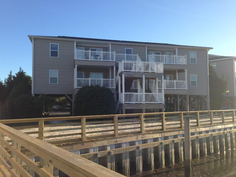 View of 9A (lower left) from Water - Outstanding Waterfront Wifi Condo -3br/2ba WiFi - Ocean Isle Beach - rentals