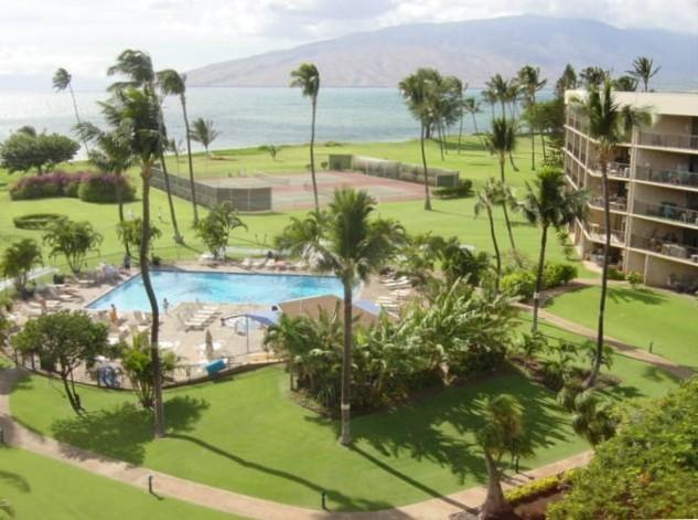 Ariel view of the immaculate grounds at the Maui Sunset - AlohaMAI - A102 - Kihei - rentals