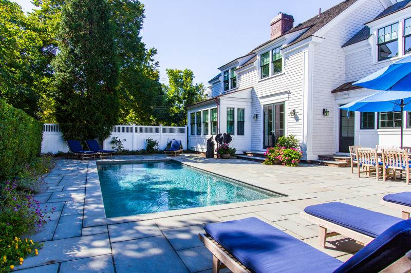 Perfect Patio, Pool and Patio Dining Area - CHAPH - Ferry Tkts Week 7/29, Park House Luxury Home, Private Pool surrounded - Edgartown - rentals
