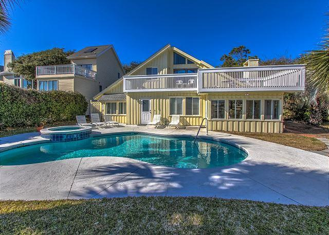 Exterior - 93 Dune Lane - Oceanfront home w/ Pool & Spa - Beach Chic. - Hilton Head - rentals
