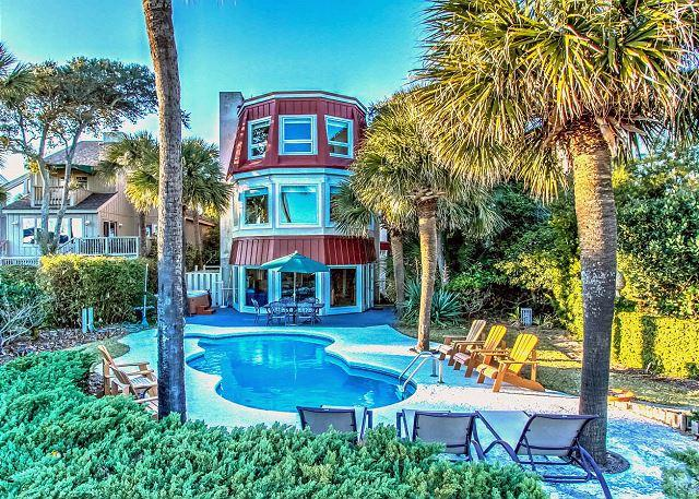 Exterior - 124 N. Forest Beach Ct-Oceanfront, Spacious with Pool & Hot Tub and Lots More - Hilton Head - rentals