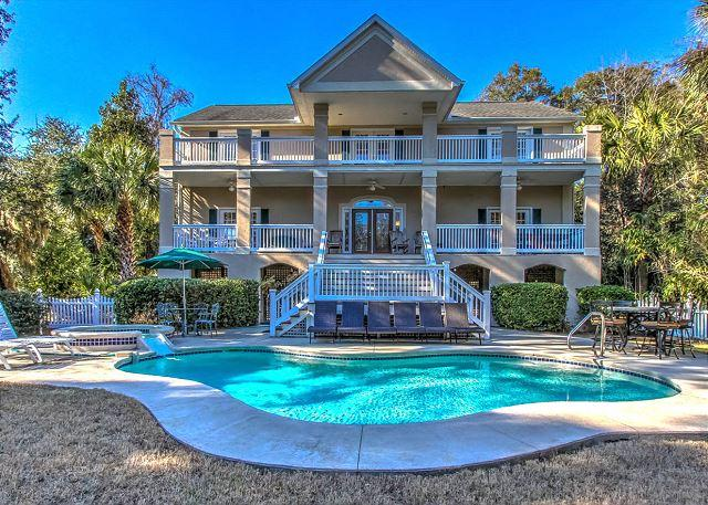Exterior - 19 Mallard - Book For Summer! Filling up fast! 6 Bedrooms - Sleeps 14 - Hilton Head - rentals