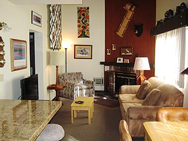 Living Room - La Vista Blanc - LVB44 - Mammoth Lakes - rentals