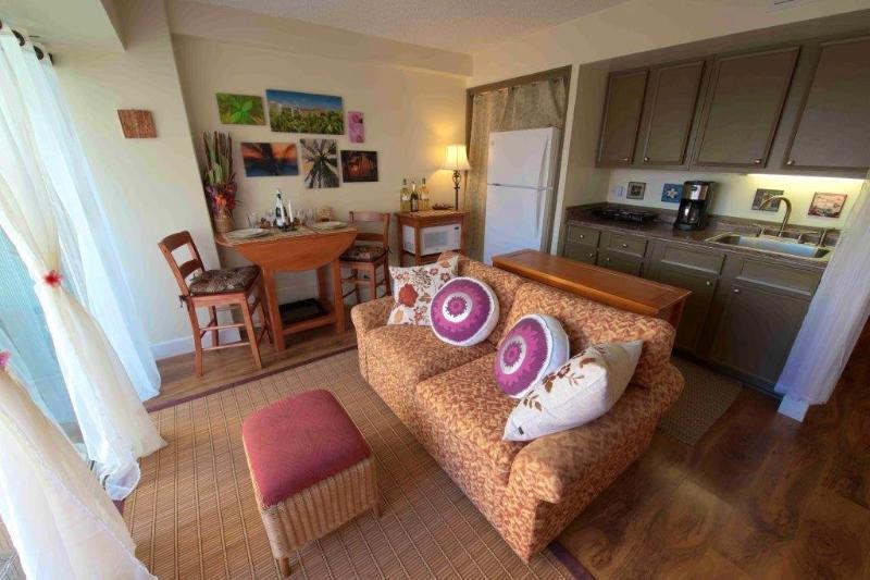 Living room always face to ocean - Romantic ocean view 1 Bd with parking , new bed - Honolulu - rentals