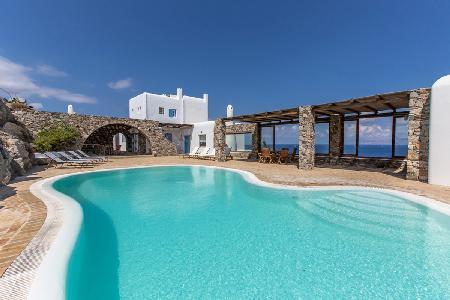 Gracias a la Vida on one acre of land overlooking the sea with secluded pool - Image 1 - Mykonos - rentals
