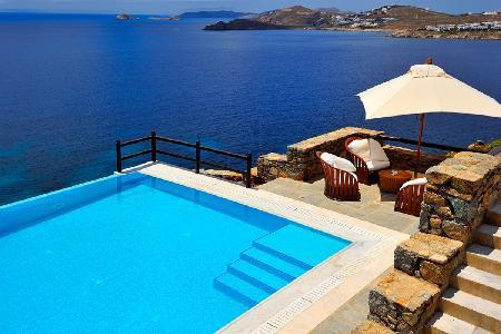 Waterfront Hermes with dazzling sea views, infinity pool, helipad & dock access - Image 1 - Tourlos - rentals