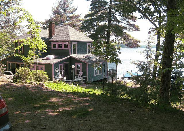 View of House from Driveway - Vintage Waterfront on Lake Winnipesaukee Sleeps 13 (CRE82W) - Meredith - rentals