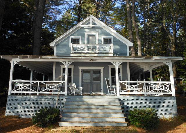 Front of home - Charming Squam Lake Waterfront Vacation Rental (HOW495W) - Center Harbor - rentals