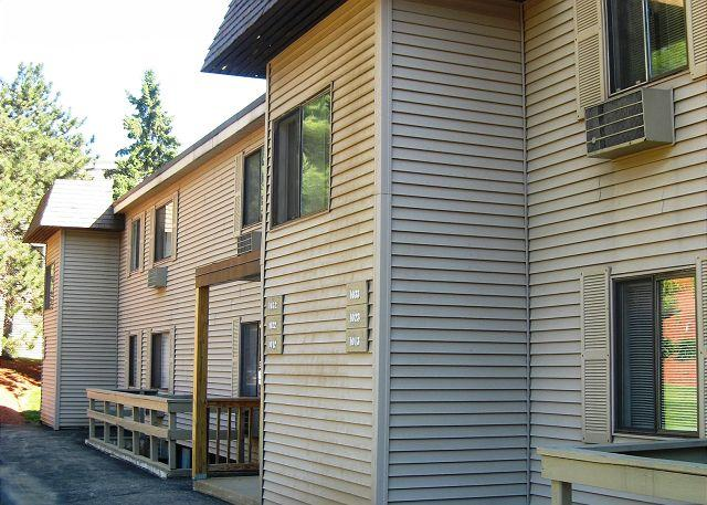 Entrance to unit - Convenient Weirs Beach Access Great for Bike Week, Sleeps 6 (AMA1023Bf) - Laconia - rentals