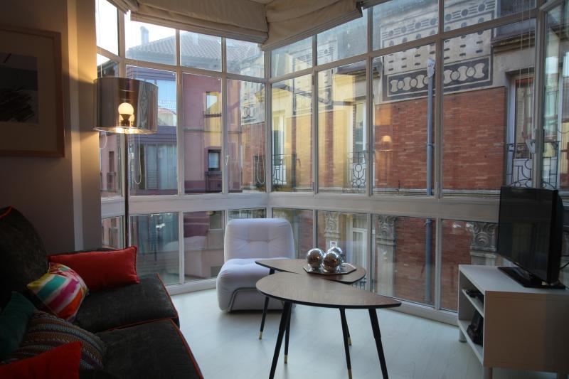 Living room windows - Vintage & Cool Designer Loft C/Mayor-Opera - Madrid - rentals