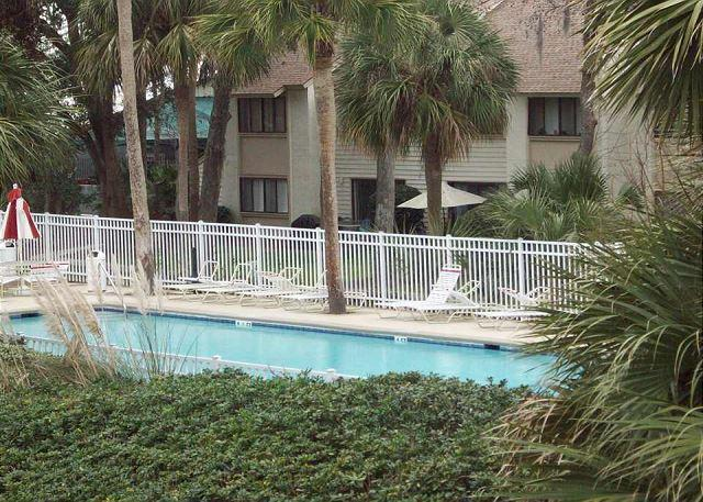 view to pool - Courtside 18 - Forest Beach Townhouse - Hilton Head - rentals