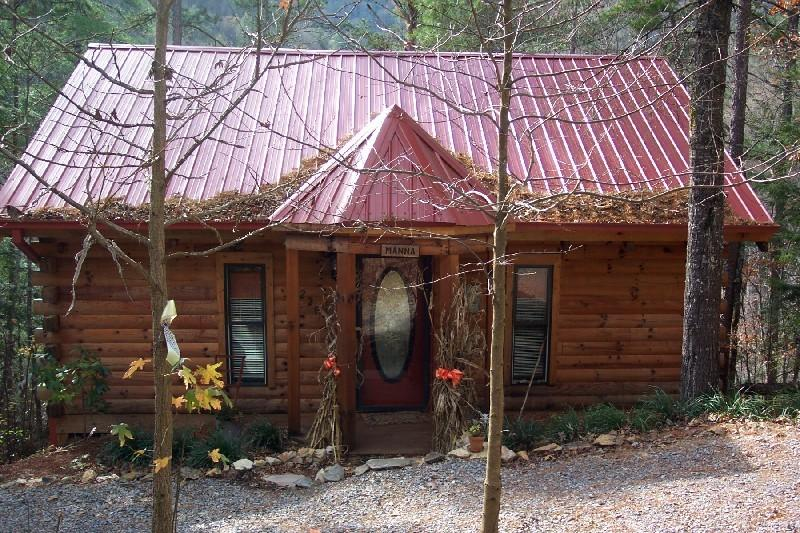 Manna .. best location!  Park, Cove, River, private, tin roof, log, sunroom - Amazing 'Manna' overlooking Little River @ GSMNP - Townsend - rentals