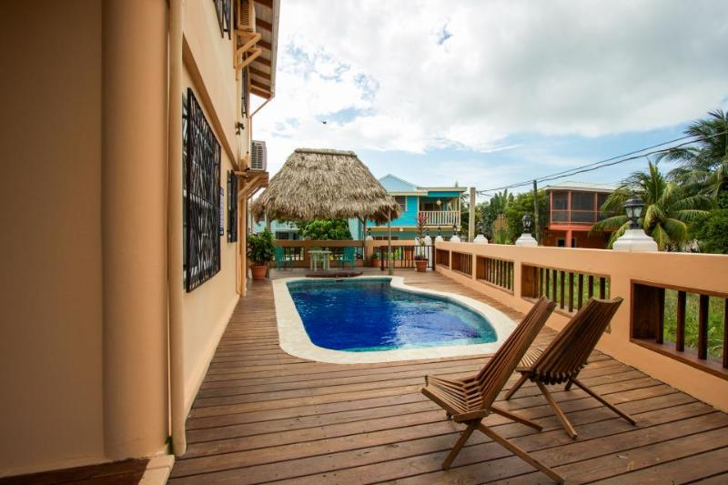 Oceanfront home w/pool! Only steps to beach & short walk to Placencia Village! - Image 1 - Placencia - rentals